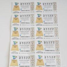 Lotería Nacional: BILLETE LOTERÍA NACIONAL, SORTEO 98/19,7 DICBRE 2019,SORTEO ESPECIAL CONSTITUCIÓN,DEFECTO. Lote 194943730