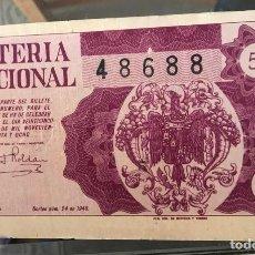 Lotería Nacional: LOTERIA NACIONAL SORTEO 24 DE 1948. Lote 194969585