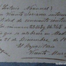 Lotería Nacional: PARTICIPACIÓN LOTERÍA NACIONAL. Lote 194976822