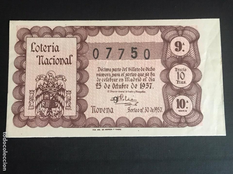LOTERIA AÑO 1957 SORTEO 30 (Coleccionismo - Lotería Nacional)