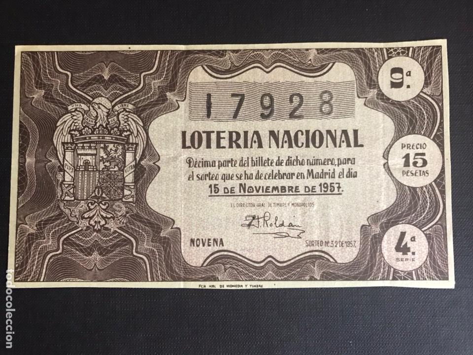 LOTERIA AÑO 1957 SORTEO 32 (Coleccionismo - Lotería Nacional)
