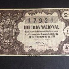Lotería Nacional: LOTERIA AÑO 1957 SORTEO 32. Lote 195010325