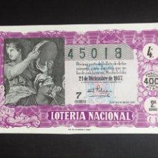 Lotería Nacional: LOTERIA AÑO 1957 SORTEO 36 NAVIDAD. Lote 195010535