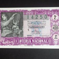 Lotería Nacional: LOTERIA AÑO 1957 SORTEO 36 NAVIDAD. Lote 195010567