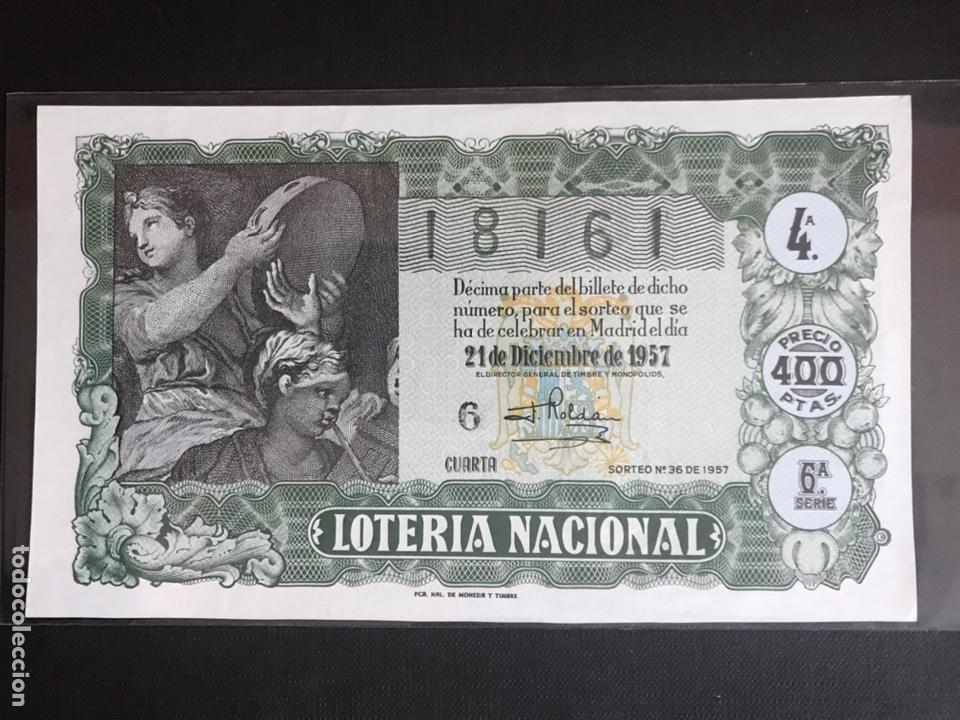 LOTERIA AÑO 1957 SORTEO 36 NAVIDAD (Coleccionismo - Lotería Nacional)