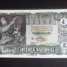 Lotería Nacional: LOTERIA AÑO 1957 SORTEO 36 NAVIDAD. Lote 195010703