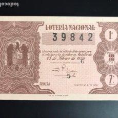 Lotería Nacional: LOTERIA AÑO 1956 SORTEO 6. Lote 195085525