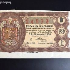 Lotería Nacional: LOTERIA AÑO 1956 SORTEO 7. Lote 195085853