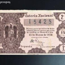 Lotería Nacional: LOTERIA AÑO 1956 SORTEO 8. Lote 195086081