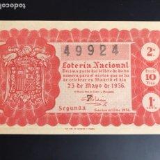 Lotería Nacional: LOTERIA AÑO 1956 SORTEO 15. Lote 195090621