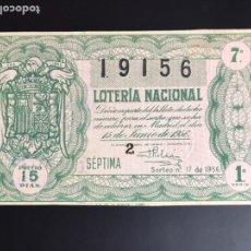Lotería Nacional: LOTERIA AÑO 1956 SORTEO 17. Lote 195090710
