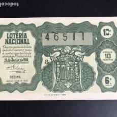Lotería Nacional: LOTERIA AÑO 1956 SORTEO 18. Lote 195090838