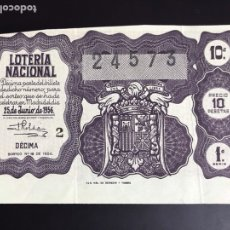 Lotería Nacional: LOTERIA AÑO 1956 SORTEO 18. Lote 195091292