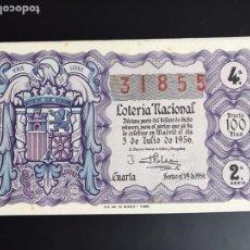 Lotería Nacional: LOTERIA AÑO 1956 SORTEO 19. Lote 195091425