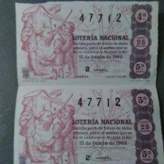 Lotería Nacional: DÉCIMOS LOTERÍA NACIONAL 1.963. Lote 195092256