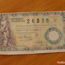 Lotería Nacional: LOTERIA NACIONAL -SORTEO 36 DEL 1940. Lote 195132601