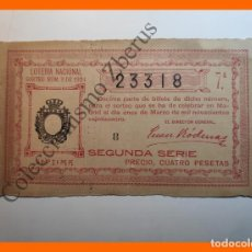 Lotería Nacional: LOTERÍA NACIONAL, SORTEO NUMERO 8 DE 1924 - ADMINISTRACIÓN Nº2 DE CÓRDOBA. Lote 195135195