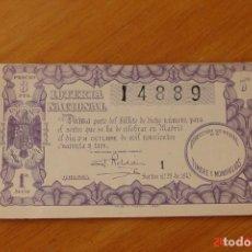 Lotería Nacional: LOTERIA NACIONAL SORTEO 28 DE 1943. Lote 195146387