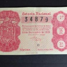 Lotería Nacional: LOTERIA AÑO 1955 SORTEO 35. Lote 195234001