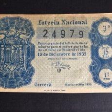 Lotería Nacional: LOTERIA AÑO 1955 SORTEO 35. Lote 195234473