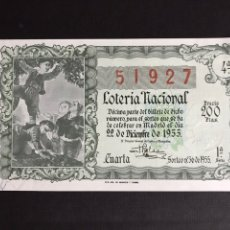 Lotería Nacional: LOTERIA AÑO 1955 SORTEO 36 NAVIDAD. Lote 195234622