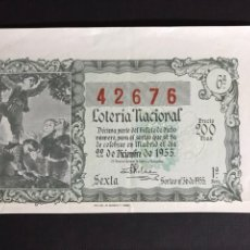 Lotería Nacional: LOTERIA AÑO 1955 SORTEO 36 NAVIDAD. Lote 195234813