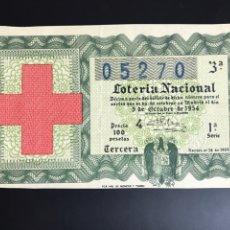 Lotería Nacional: LOTERIA AÑO 1954 SORTEO 28. Lote 195269505