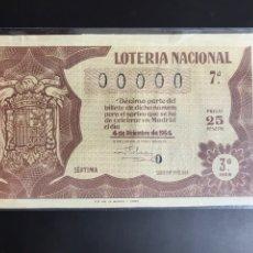 Lotería Nacional: LOTERIA AÑO 1954 SORTEO 34. Lote 195270597