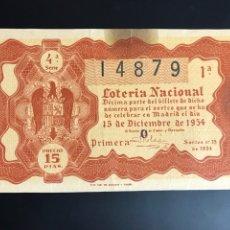 Lotería Nacional: LOTERIA AÑO 1954 SORTEO 35. Lote 195270652