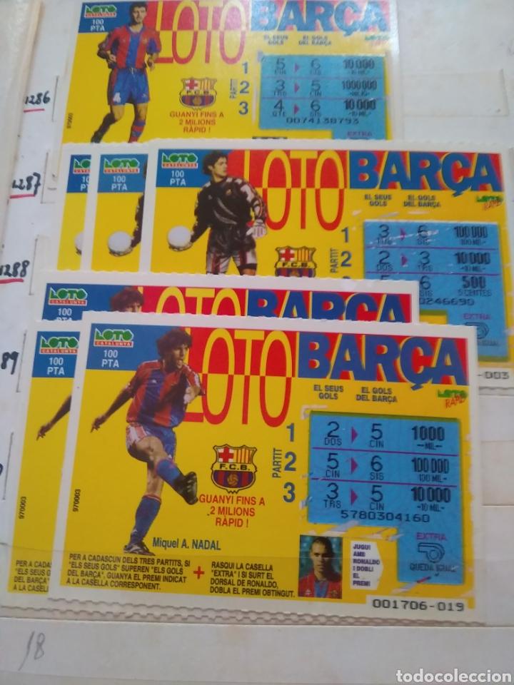 7 BOLETOS DE LOTO CATALUNYA, LOTO BARCA (Coleccionismo - Lotería Nacional)