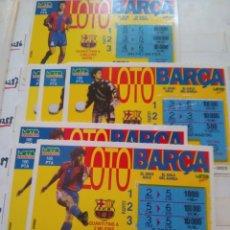Lotería Nacional: 7 BOLETOS DE LOTO CATALUNYA, LOTO BARCA. Lote 195337726