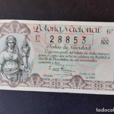 Lotería Nacional: LOTERIA NACIONAL, AÑO 1942 SORTEO 36 ( D - 0441 ). Lote 195338216
