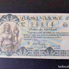 Lotería Nacional: LOTERIA NACIONAL, AÑO 1942 SORTEO 36 ( D - 0442 ). Lote 195338278