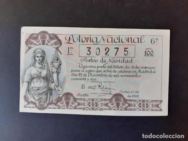 423604 LOTERIA NACIONAL, AÑO 1942 SORTEO 36 (Coleccionismo - Lotería Nacional)