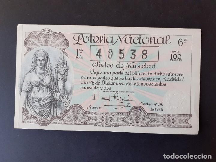 423603 LOTERIA NACIONAL, AÑO 1942 SORTEO 36 (Coleccionismo - Lotería Nacional)