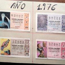 Lotería Nacional: LOTERÍA NACIONA. AÑO 1976 COMPLETO MONTADO EN HOJAS DE CARTULINA GRUESA DEL TAMAÑO 28,5 X 21 CM.. Lote 195353403