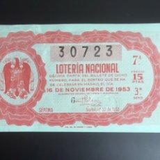 Lotería Nacional: LOTERIA AÑO 1953 SORTEO 32. Lote 195369346