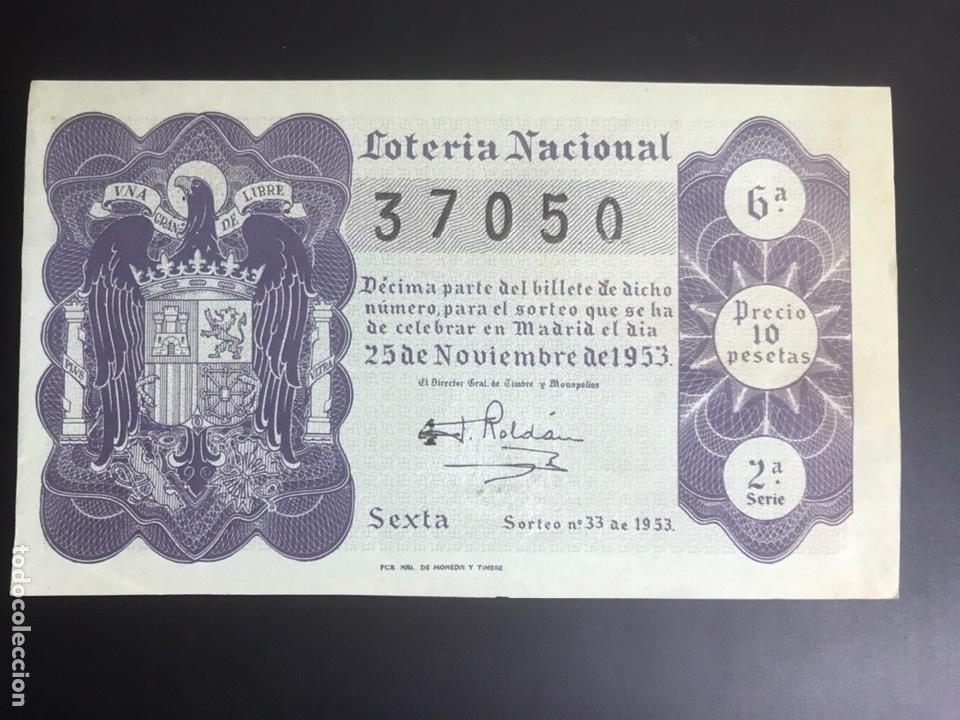 LOTERIA AÑO 1953 SORTEO 33 (Coleccionismo - Lotería Nacional)