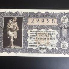 Lotería Nacional: LOTERIA AÑO 1953 SORTEO 36 NAVIDAD. Lote 195369601