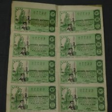 Lotería Nacional: BILLETE ENTERO LOTERÍA NACIONAL Nº 07723. 15 JULIO 1966. ADMON1 BARCELONA, DON MANOLITO. 4 FOTOS. Lote 195489885