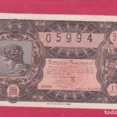 Lotería Nacional: LOTERIA NACIONAL SORTEO 36 DE 1950. Lote 195495768
