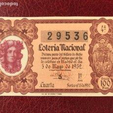 Lotería Nacional: LOTERIA AÑO 1952 SORTEO 13. Lote 195531327