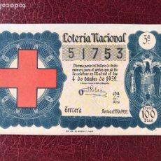 Lotería Nacional: LOTERIA AÑO 1952 SORTEO 28. Lote 195531622