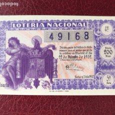 Lotería Nacional: LOTERIA AÑO 1952 SORTEO 36 NAVIDAD. Lote 195531715