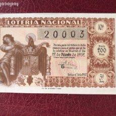 Lotería Nacional: LOTERIA AÑO 1952 SORTEO 36 NAVIDAD. Lote 195531787