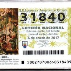 Lotería Nacional: LOTERIA NACIONAL DEL SABADO - AÑO 2017 COMPLETO. Lote 195748333