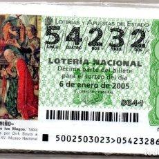 Lotería Nacional: LOTERIA NACIONAL DEL SABADO - AÑO 2005 COMPLETO. Lote 195749608