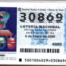 Lotería Nacional: LOTERIA NACIONAL DEL SABADO - AÑO 2000 COMPLETO. Lote 195750213