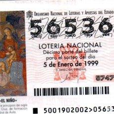 Lotería Nacional: LOTERIA NACIONAL DEL SABADO - AÑO 1999 COMPLETO. Lote 195750367