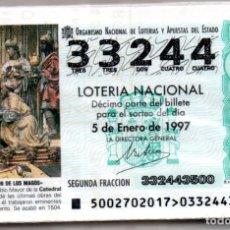 Lotería Nacional: LOTERIA NACIONAL DEL SABADO - AÑO 1997 COMPLETO. Lote 195750590